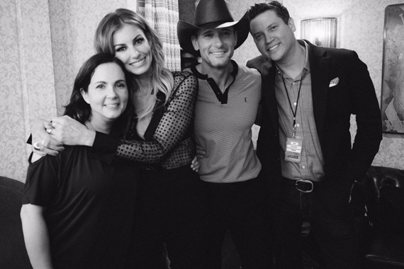 Pictured (L-R): Lori McKenna, Faith Hill, Tim McGraw, Jason Owen. Photo: @faithhill